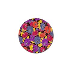 Colorful Floral Pattern Background Golf Ball Marker (4 Pack) by Nexatart