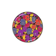 Colorful Floral Pattern Background Hat Clip Ball Marker by Nexatart