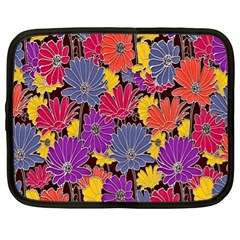 Colorful Floral Pattern Background Netbook Case (XL)