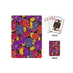 Colorful Floral Pattern Background Playing Cards (mini)  by Nexatart