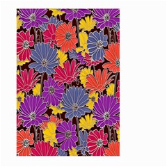Colorful Floral Pattern Background Large Garden Flag (two Sides) by Nexatart