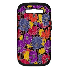 Colorful Floral Pattern Background Samsung Galaxy S Iii Hardshell Case (pc+silicone) by Nexatart