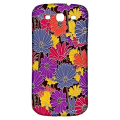 Colorful Floral Pattern Background Samsung Galaxy S3 S Iii Classic Hardshell Back Case by Nexatart