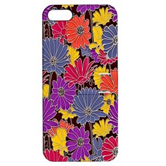 Colorful Floral Pattern Background Apple Iphone 5 Hardshell Case With Stand by Nexatart