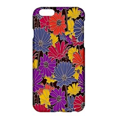 Colorful Floral Pattern Background Apple Iphone 6 Plus/6s Plus Hardshell Case by Nexatart
