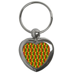 Colorful Wooden Background Pattern Key Chains (heart)  by Nexatart