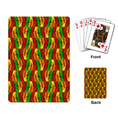 Colorful Wooden Background Pattern Playing Card by Nexatart