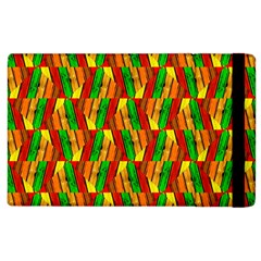 Colorful Wooden Background Pattern Apple Ipad 2 Flip Case by Nexatart