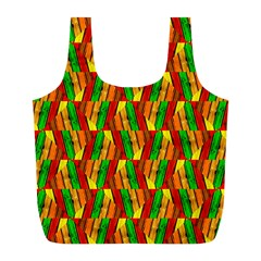 Colorful Wooden Background Pattern Full Print Recycle Bags (l)  by Nexatart