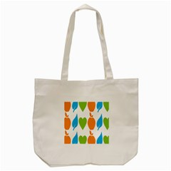 Fruit Apple Orange Green Blue Tote Bag (cream) by Mariart