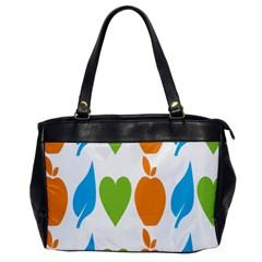 Fruit Apple Orange Green Blue Office Handbags by Mariart