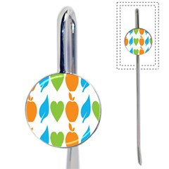 Fruit Apple Orange Green Blue Book Mark by Mariart