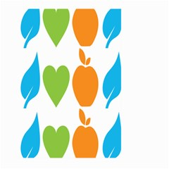Fruit Apple Orange Green Blue Large Garden Flag (two Sides) by Mariart