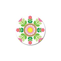 Flower Floral Sunflower Sakura Star Leaf Golf Ball Marker (4 Pack) by Mariart