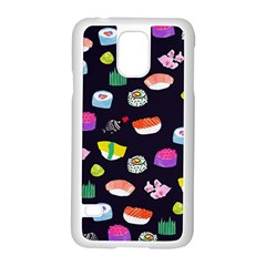 Japanese Food Sushi Fish Samsung Galaxy S5 Case (white) by Mariart