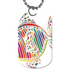 Colorful Fish Animals Rainbow Dog Tag (two Sides) by Mariart
