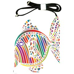 Colorful Fish Animals Rainbow Shoulder Sling Bags by Mariart