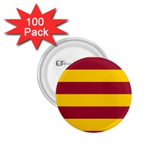 Oswald s Stripes Red Yellow 1 75  Buttons (100 Pack)  by Mariart