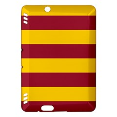 Oswald s Stripes Red Yellow Kindle Fire Hdx Hardshell Case by Mariart