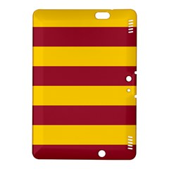 Oswald s Stripes Red Yellow Kindle Fire Hdx 8 9  Hardshell Case by Mariart