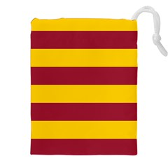 Oswald s Stripes Red Yellow Drawstring Pouches (xxl) by Mariart