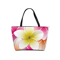 Frangipani Flower Floral White Pink Yellow Shoulder Handbags by Mariart