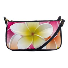 Frangipani Flower Floral White Pink Yellow Shoulder Clutch Bags by Mariart