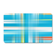 Lines Blue Stripes Magnet (rectangular) by Mariart