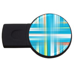Lines Blue Stripes Usb Flash Drive Round (4 Gb) by Mariart