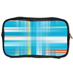 Lines Blue Stripes Toiletries Bags 2 Side by Mariart