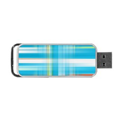 Lines Blue Stripes Portable Usb Flash (two Sides) by Mariart