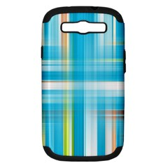 Lines Blue Stripes Samsung Galaxy S Iii Hardshell Case (pc+silicone) by Mariart