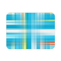 Lines Blue Stripes Double Sided Flano Blanket (mini)  by Mariart