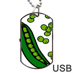Peas Green Peanute Circle Dog Tag Usb Flash (two Sides) by Mariart