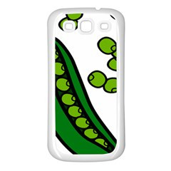 Peas Green Peanute Circle Samsung Galaxy S3 Back Case (white) by Mariart