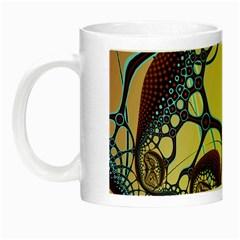 Labels Net Circle Brown Night Luminous Mugs by Mariart