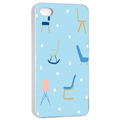Seat Blue Polka Dot Apple Iphone 4/4s Seamless Case (white) by Mariart