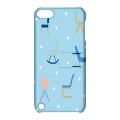 Seat Blue Polka Dot Apple iPod Touch 5 Hardshell Case with Stand