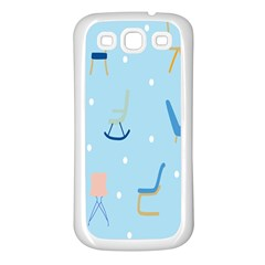 Seat Blue Polka Dot Samsung Galaxy S3 Back Case (white) by Mariart
