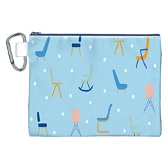 Seat Blue Polka Dot Canvas Cosmetic Bag (xxl) by Mariart