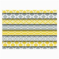Paper Yellow Grey Digital Large Glasses Cloth by Mariart