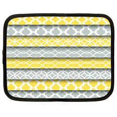 Paper Yellow Grey Digital Netbook Case (xl)  by Mariart