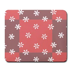 Seed Life Seamless Remix Flower Floral Red White Large Mousepads by Mariart