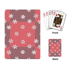 Seed Life Seamless Remix Flower Floral Red White Playing Card by Mariart