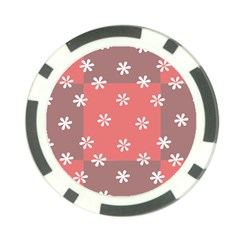 Seed Life Seamless Remix Flower Floral Red White Poker Chip Card Guard by Mariart