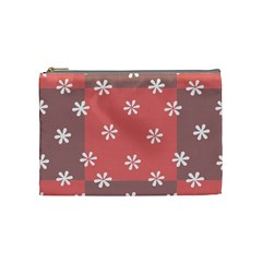 Seed Life Seamless Remix Flower Floral Red White Cosmetic Bag (medium)  by Mariart