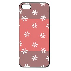 Seed Life Seamless Remix Flower Floral Red White Apple Iphone 5 Seamless Case (black) by Mariart