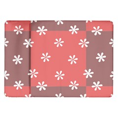 Seed Life Seamless Remix Flower Floral Red White Samsung Galaxy Tab 10 1  P7500 Flip Case by Mariart
