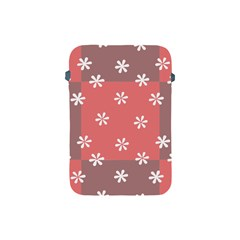 Seed Life Seamless Remix Flower Floral Red White Apple Ipad Mini Protective Soft Cases by Mariart