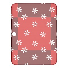 Seed Life Seamless Remix Flower Floral Red White Samsung Galaxy Tab 3 (10 1 ) P5200 Hardshell Case  by Mariart